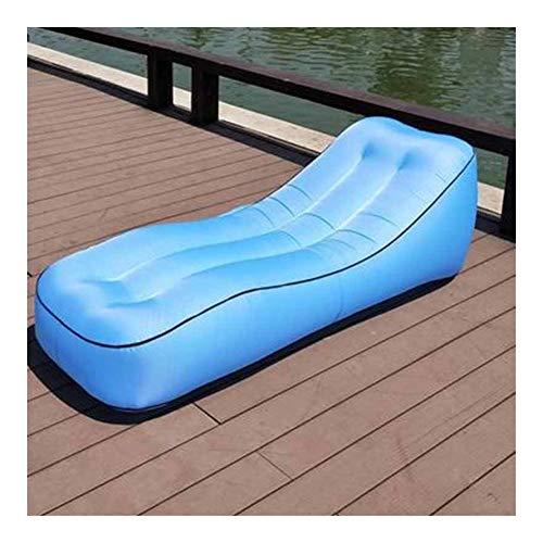 Yuanyuanliu Lit d'air Hamac Sofa Gonflable en Plein Air Gonflable Bureau Portable Déjeuner Coussin De Lit Pause (Color : D)