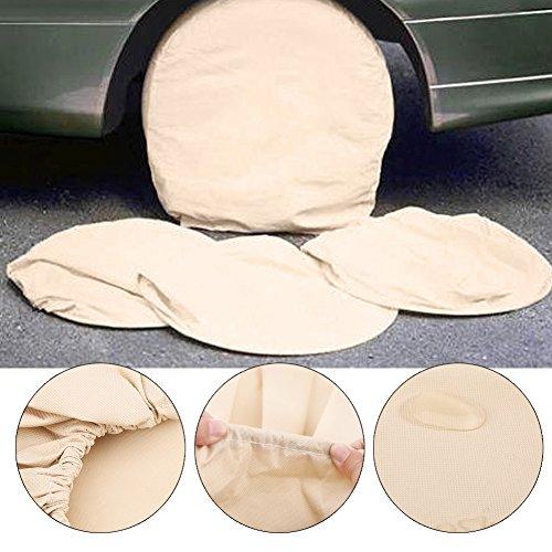 Funda para Neumático Coche, 4pcs bolsa funda de rueda de auxilio protección almacenamiento para neumáticos auto coche caravana Camping Car Utilitaire–71x 26cm 28pulgadas