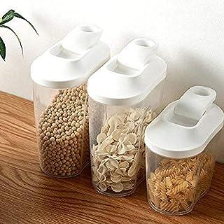 Pkfinrd 3PCS Boîte de Rangement Insecte et humidité Sceau d'étanchéité Distributeur de Nourriture sèche Distributeur de Ma...