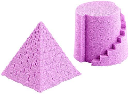 Playtastic antibakterieller Sand: Kinetischer Sand, formbar und formstabil, fein, violett, 500 g (Therapiesand)