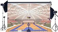HD ビニール7X5FT豪華なバスケットボールコートの背景幕スタジアム群衆ぼろぼろのウッドフロアインテリア体育館の写真の背景男の子プレーヤースポーツマッチスクールゲームフォトスタジオ小道具KX452