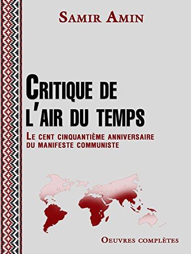 Critique de l'air du temps (Alter développement) (French Edition)