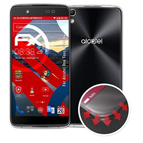 atFolix Schutzfolie kompatibel mit Alcatel One Touch Idol 4+ Folie, entspiegelnde & Flexible FX Bildschirmschutzfolie (3er Set)