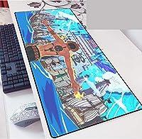 アニメワンピース マウスパッドは素晴らしいゲーミングマウスパッドです大型マウスパッドドレスぬいぐるみアヒルの舌漫画表面耐摩耗性と耐久性のある大規模なオフィスマウスパッドの個性の強化-900*400*3mm-E_900*400*3MM