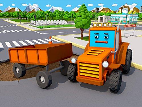 Orange Traktor