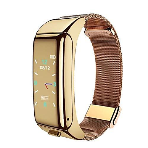 AKL Smart Watch con El Monitor De Frecuencia Cardíaca De Auriculares Bluetooth, Adecuado para Xiaomi Bracelet 4 Reloj Deportivo con Auriculares De Rastreador De Fitness,A