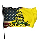 Vintage American Flag Dont Tread On Me Flag 3x5 Foot Flag Outdoor 100% Single-Layer Translucent Polyester 3'x5' Ft Banner for Garden Home