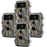 Folgtek 4pcs Wildlife Camera 20MP Hunting Cam Trail Camera 1080P Video with Night Vision Waterproof...