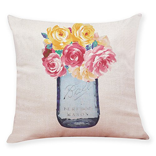 Arystk Home Decor Cushion Cover Flower Vase Throw Pillowcase Pillow Covers