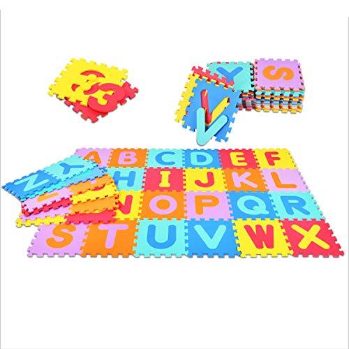 GOPLUS Puzzlematte, Bodenmatte 36 Stücke, Spielmatte für Babys und Kinder, Kindermatte, Puzzleteppich, Lernteppich, Steckmatte aus Eva, 30x30cm