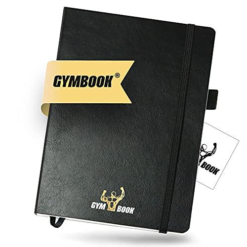 GYMBOOK® - Premium Trainingstagebuch & Workout Logbuch. Das Notizbuch fürs Training, Fitness, Gym, Ernährung & Mehr. DIN A5 + Extras + Frauen & Männer