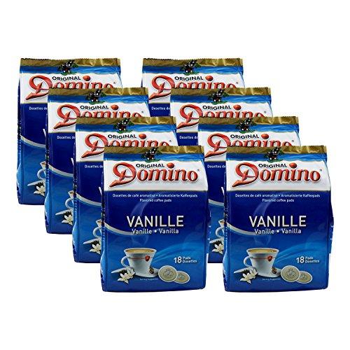 8x DOMINO Kaffeepads Vanille (á 18 Pads)