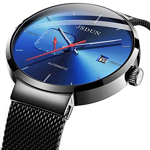 CETLFM Heren Mesh Riem Automatische Mechanische Horloge, Waterdichte Mode Lichtgevende Horloge Merk Mannen Horloge