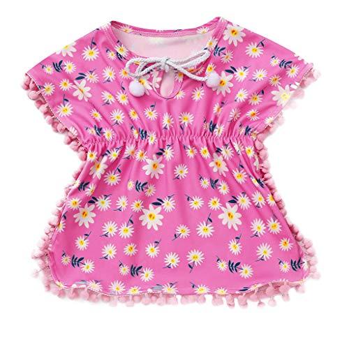 Vrouit kinderen meisjes baby bloemenprint strand T-shirt rock cover rok badpak zomerjurk badmode kleding