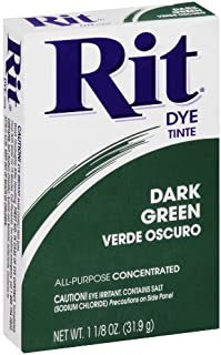 Rit Purpose Powder Dye, Dark Green, 1-1/8 oz