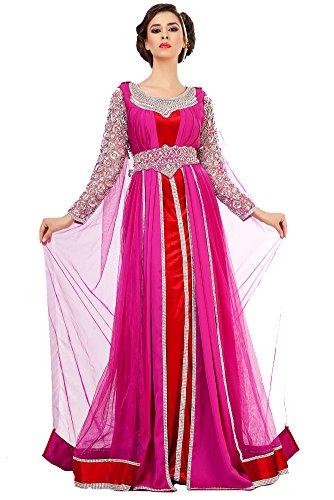 PalasFashion marokkanischen Tunika Kleid Damen kkpf1023 Gr. 54, Rosa - Pink