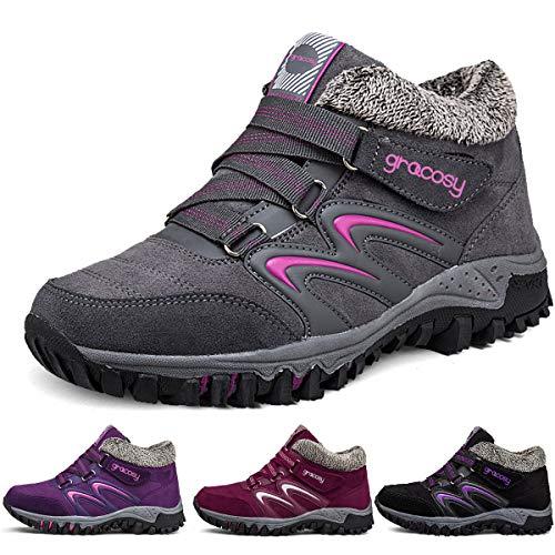gracosy Mujer Botas de Nieve Senderismo Zapatos Antideslizantes Trekking Zapatos...