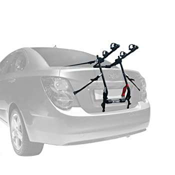 Tyger Auto TG-RK2B202B Deluxe Black 2-Bike Trunk Mount Bicycle Carrier Rack. (Compatible with Most Sedans/Hatchbacks/Minivans and SUVs.)