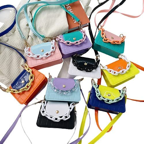 Girls Purses and Handbags PVC Jelly Crossbody Bags for Women Mini Coin Wallet Shoulder Bag Ladies Hand Bags Tote