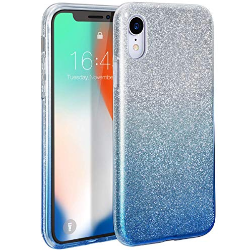 Amozo - Gradient Glitter Soft TPU Silicon Case for iPhone XR (Gradient Blue)