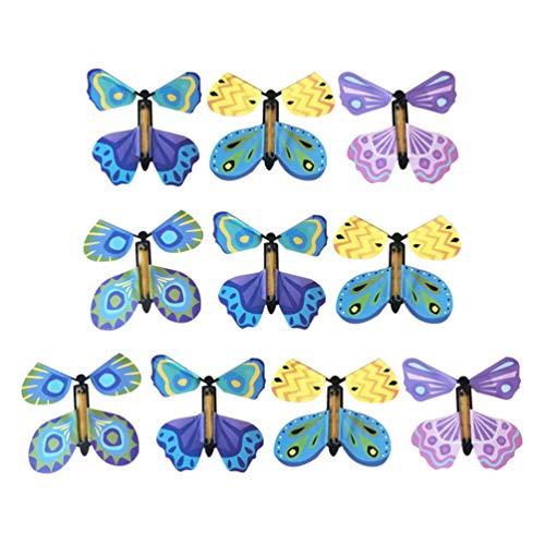 Toyvian 10 Piezas Juguetes de Mariposas Divertidos Novedad