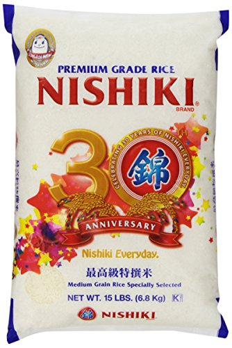 Nishiki Premium Rice, Medium Grain, 15-Pound Bag (packaging may vary)