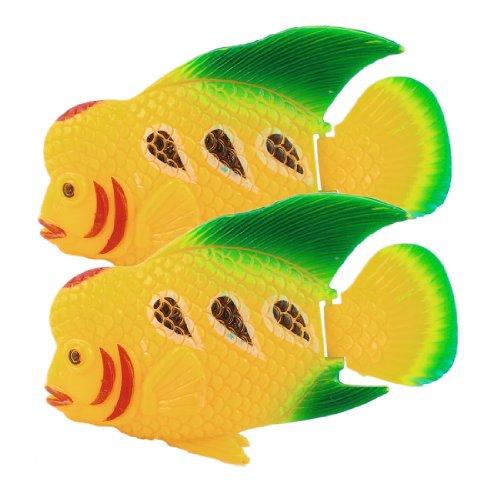 sourcingmap Deko-Fische, Kunststoff, beweglicher Schwanz, Tropische Fische, 2 Stück, Grün