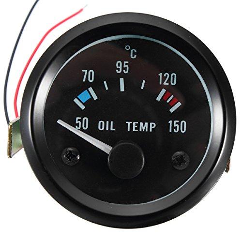 GOZAR 45 cm 52 12V universeel 50-150 °C olietempo temperatuurmeter voor auto en motorfiets