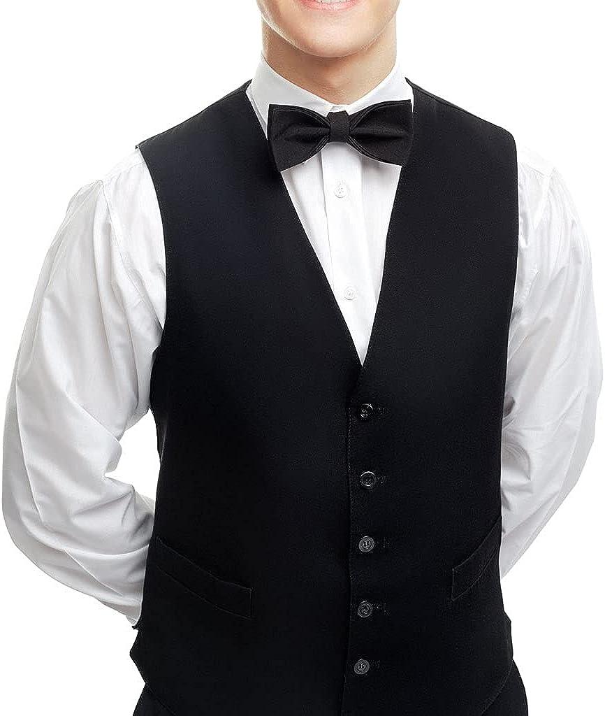 Mens Vest Waiter Uniform Poly Black Vest