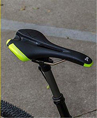 Randeny Vente Chaude Promend Bicyclette Selle Anatomique Soulagement de Selle de Vélo de Bicyclette Utilisation pour Montagne VTT et Vélo de Route Black Green
