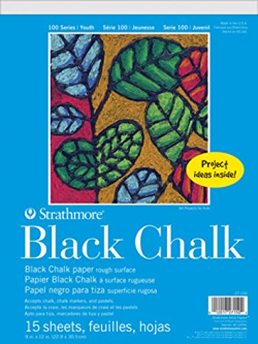 Strathmore (27-150 STR-27-150 100 Series Black Chalk Paper, 9 by 12', 15 Sheets