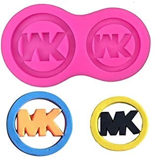 MK Famous Logo Silicone Mold for 3D Fondant Chocolate Candy Girls Party