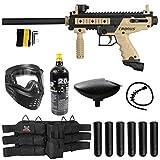 Maddog Tippmann Cronus Basic Titanium CO2 Paintball Gun Marker Starter Package - Black/Tan