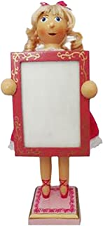 Christmas Nutcracker Ballet Clara Doll Figure Ballerina With Picture Frame for Holiday Photo Wood Exclusive Design