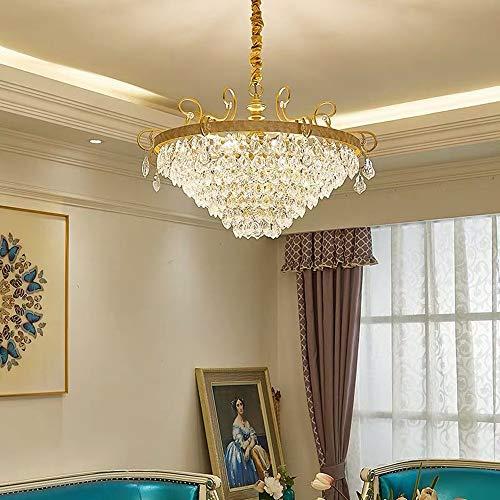 BICCQ Sala De Estar Restaurante Europeo Lujo Lujo Luz Moderna Lujo Simple Dormitorio Lámpara De Cristal Lámpara