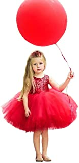 Toddler Baby Girls Birthday Wedding Party Dress Sleeveless Sequins Top Lace Tutu Skirt