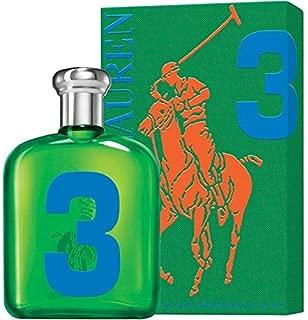 Râlph Laûren The Big Pony Collection #3 Eau De Toilette for Men 4.2 FL. OZ./125 ml.