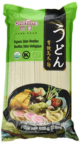 ONETANG Organic Udon Noodles Dried Noodles Organic Udon Wheat Noodles Vegan Kosher USDA Non-GMO 2 LBS (32 ounce)