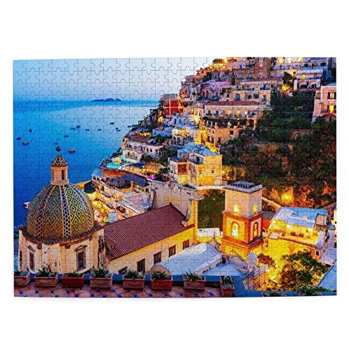 Puzzle de 500 piezas Santorini, juego de rompecabezas para adultos y niños, creativo puzle clásico para aliviar el estrés (mar)