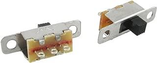 uxcell 5 Pcs x On-Off 2 Position SPDT 1P2T Panel Mini Slide Switch Solder Lug SS12F15G3