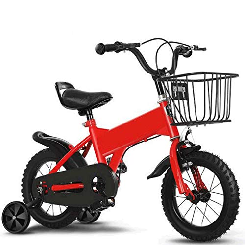 Mountainbike für Kinder, High Carbon Stahl Folding Outroad Fahrrad leichte, tragbare Mini-Fahrrad für Radfahren Außen Sport Strandritt Reise Schule,Rot,18 inch