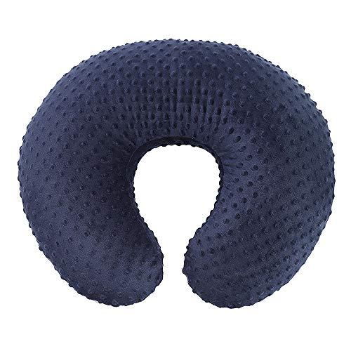 Owlowla Minky Nursing Pillow Cover, Breastfeeding Pillow Slipcover Fits Nursing Pillow for Baby Boy Girl(Navy)