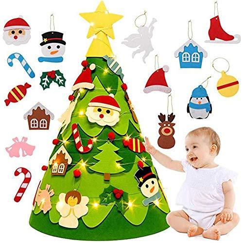 FORYOURS - Juego de 17 Adornos para árbol de Navidad (Fieltro)