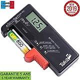 TAKIT Battery Tester Digital For AA, AAA, C, D, PP3, 9V, 1.5V, Button