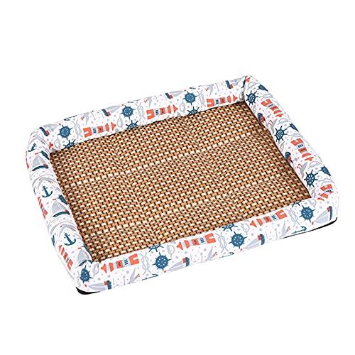 Seii Mat de enfriamiento para Mascotas - Pad de refrigeración de Verano para Perros Lavable para Dormir para Mascotas Manténgase Fresco en Verano Interior o en el Coche Chic