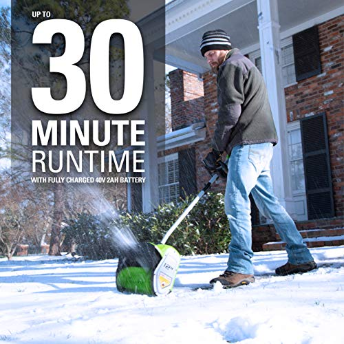 Greenworks 12-Inch 40V Cordless Snow Shovel, Battery Not Included 2601402