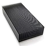 Kuinayouyi - Disipador térmico de refrigeración con aleta, radiante de aluminio, color plateado duradero, 80 x 27 x 150 mm para chip de radiador eléctrico de potencia LED