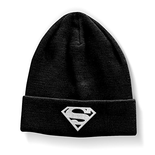 Superman Officiellement Marchandises sous Licence Shield Bonnet (Noir)