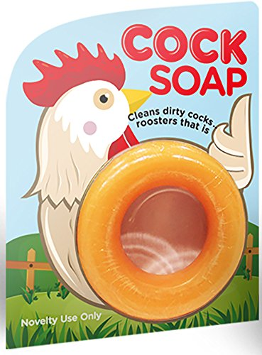 Deluxe Coc Soap - Clean's Dirty Cocs - Roosters that Is - Soap with a Cause - White Elephant Exchange