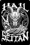 Cartel de chapa retro Hail Seitan Theme Metal Tin Sign 8x12 Inches